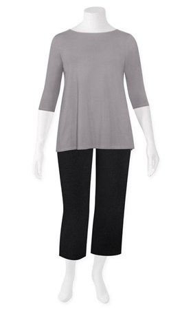 FINAL SALE - Weyre - dove relaxed boat neck top