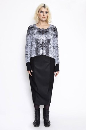 FINAL SALE - Euphoria - parallel lines skirt
