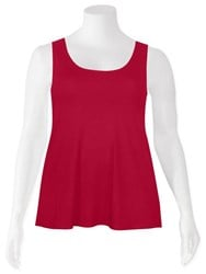 FINAL SALE - Weyre - cherry relaxed tank