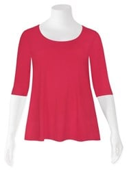 SALE - Weyre - raspberry relaxed scoop top
