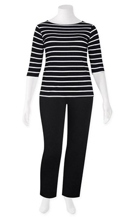 SALE - Weyre - stripe boat top