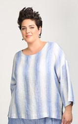 FINAL SALE - Chalet - wave stripe sylvia top