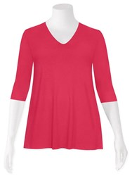 FINAL SALE - Weyre - raspberry relaxed scvee top