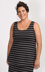 FINAL SALE - Weyre - charcoal stripe relaxed tank