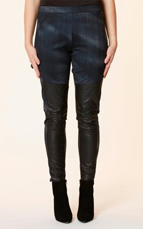 SALE - Chocolat - castro leather panel pant - final clearance