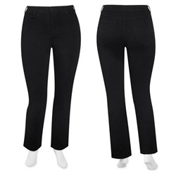 NYDJ - W fit black straight leg tummy tuck jean