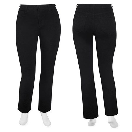 SALE - NYDJ - W fit black straight leg tummy tuck jean