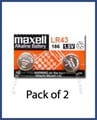 Maxell LR43 Button Cell Battery