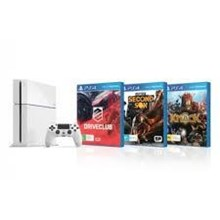 PlayStation 4 Console White with Driveclub and inFamous Second Son and Knack