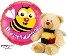 Bee My Valentine Balloon and Bear Combo
