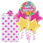 5 Star Anniversary Foil Balloon Bouquet