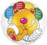 Get Well Bandaged Bear (Balloon-In-A-Box)