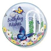 Single Bubble Butterfly Birthday Wishes