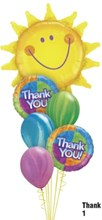 Thank You Smiling Sun Balloon Bouquet