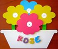 FLOWER POT Name Plaque