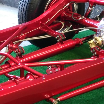 our exhaust hanger brackets customized and fitted to hot rod chassis
