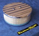 Air Cleaner 9 inch Ford Oval POLISHED with 3 inch element - Stromberg two barrel diameter 2' 5/8' inch neck