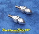 Number Plate Bullet Bolts Alloy - Dome Round end Style 1 Pair