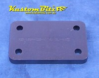 Hot Rod Chassis Crossmember Back Plate - Blank, Square, 12mm thick