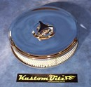 Chrome Air Cleaner 9 inch with 2 inch element - 80mm diameter neck suit Holden Gemini