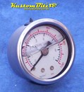 Fuel gauge - Oil filled fuel pressure gauge - Mechanical 100 PSI range for high pressure systems