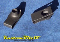 Speed Nuts 5/16 UNC thread - J Nut fastener for body Panels Black mild steel - Ford Style