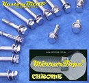 Chrome Bolt Kit Holden 253 308 carby with VN heads - Mirror Topz Chrome