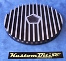 Air Cleaner 9 inch Finned Black Chrysler Star - TOP ONLY