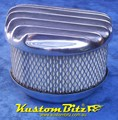 Air Cleaner 6 inch Raised Fins with 3 inch element - Holley diameter 5' 1/8' inch neck