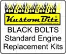 Holden V8 Bolt Kit - Engine Mount bolts Only [Black Bolts]