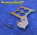 Throttle Accelerator Cable Bracket for Holley 4 barrel carb - pull from back side - sits under carb - Zinc Passivate