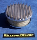 Air Cleaner 6 inch Flat Top Finned - Stromberg 2 barrel diameter 2' 5/8' inch neck