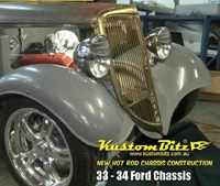 Ford Hot Rod Chassis construction 1933-34 new reproduction Street Rod chassis with IFS