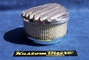 Air Cleaner 6 inch Raised Fins - Holley diameter 5' 1/8' inch neck