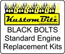 Holden V8 Bolt Kit - Water Pump & Timing Cover bolts only Black engine bolts [KustomBitz Blackz]