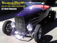 Ford Hot Rod Chassis construction 1932 new reproduction Street Rod chassis with traditional I beam front axle
