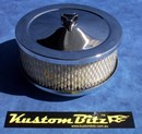 Chrome Air Cleaner 6 inch - Stromberg 2 barrel diameter 2' 5/8' inch neck