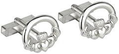 S6432 - Claddagh Cufflinks , They are sterling silver and made in Ireland.