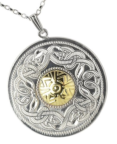 Warrior Shield Pendant,incorporating both the Celtic shield and the Celtic animal design.