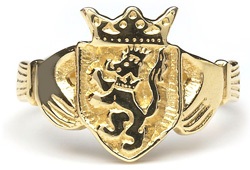 Heraldic Ring - L200,This ladies ring is made to order in your family crest. It is 10ct yellow gold and made in Ireland