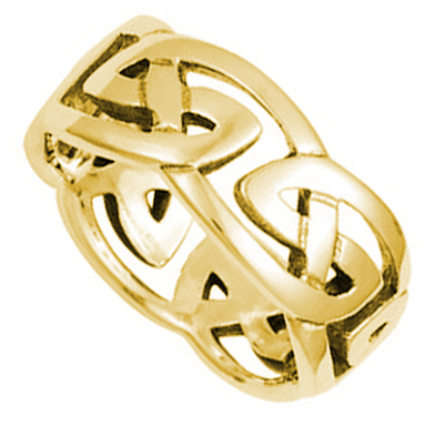 ID312 Celtic Knot - Mens, This lovely ring gold ring is a variation on the classic celtic love knot