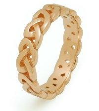 ID116 Passion,This simple open celtic weave symbolises two forces working in harmony with no beginning and no end. Made in Ireland.