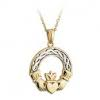 S44956 - Claddagh Pendant  ,This lovely pendant shows the classic Claddagh symbol, which represents Love, Loyalty and Friendship