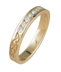 ID327 Eternity Diamonds,This stunning celtic ring is one of the narrowest in our range. Features your choice of stones, 9ct gold.