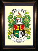 A4 Coat of arms framed print