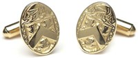 Heraldic Cufflinks - CL200,These cufflinks are made to order with your families coat of arms on them.
