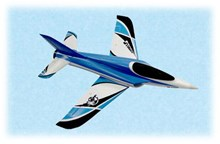 Freewing Stinger 64 64mm 4S Electric RC EDF Jet - PNP (BLUE SCHEME)