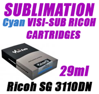 Cyan SUBLIMATION INK - VISI-SUB RICOH CARTRIDGES Ricoh SG 3110DN 29ml