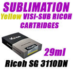 Yellow SUBLIMATION INK - VISI-SUB RICOH CARTRIDGES Ricoh SG 3110DN 29ml