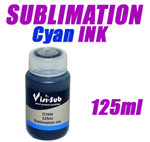 Sublimation Cyan Ink - Visi -Sub Bottles 125ml